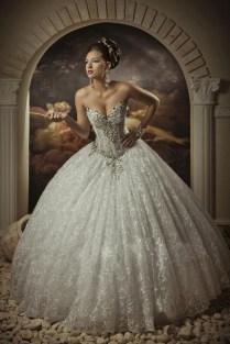 Arabic Bridal Gowns Sweetheart Lace Princess Ball Gown Arabian