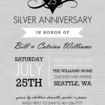 Awesome Album Of 25 Year Wedding Anniversary Invitations Which