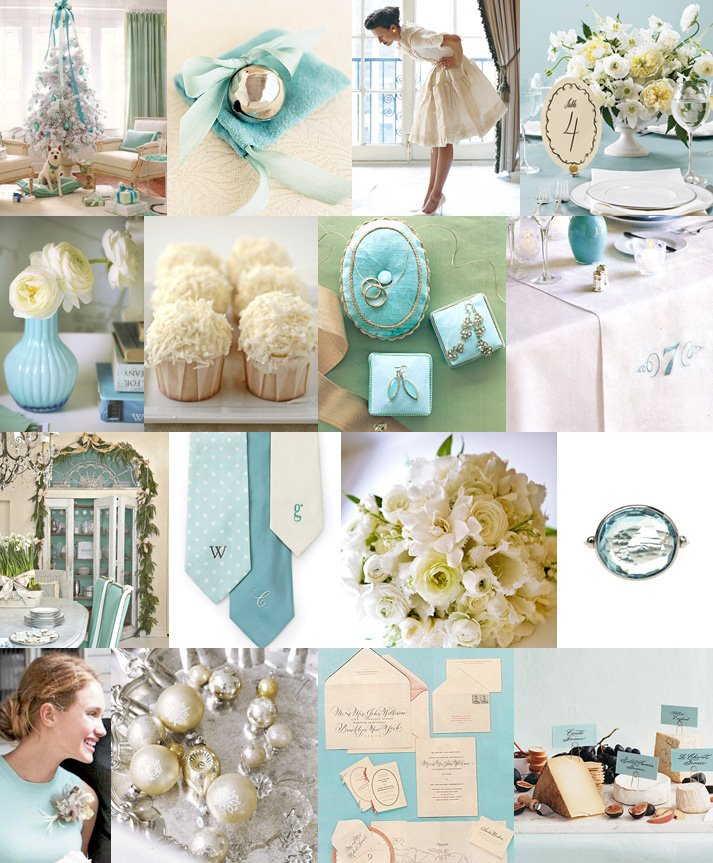 Silver And Baby Blue Wedding Theme
