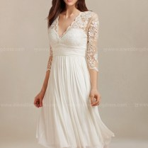Beach Short Wedding Dress With Lace Bc128