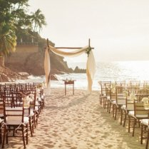 Beach Wedding Ceremony Lucite Ceremony Structure With Draping