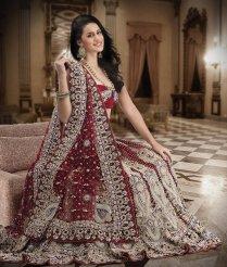 Beautiful Bridal Lehenga On Maroon Color