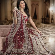 Beautiful Bridal Lehenga On Maroon Color