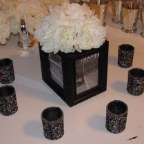 Black Photo Box, White Flowers