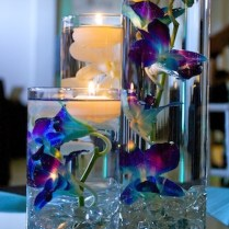 Blue And Silver Wedding Flowers Orchids