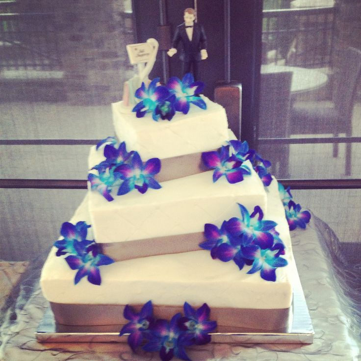 Purple And Blue Orchids Wedding