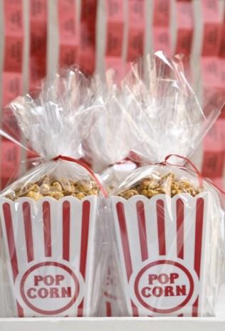 Caramel Popcorn Wedding Favors