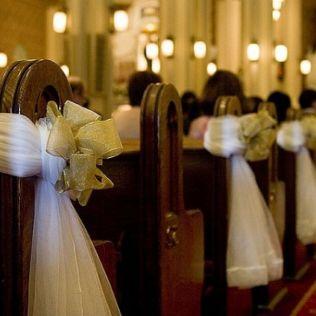 Church Wedding Decorations With Columns Church Wedding