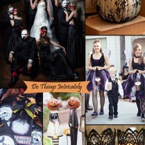 Classy Halloween Inspired Wedding Ideas And Bridesmaid Dresses
