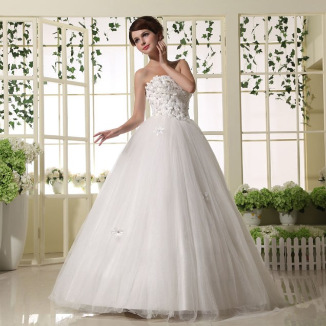 Cute Wedding Dresses Tea Length Wedding Dress Princess Ball Gown