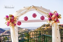 Decoration Flowers Of Wedding Ceremony In Orange Hill