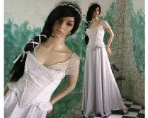 Delicate Medieval Style Fairy Alternative Wedding Gown
