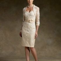 Details About Stock Noble Champagne Short Lace Wedding Mother Of