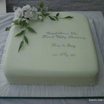 Diamond Wedding Anniversary Cake Ideas