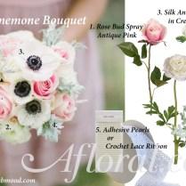 Diy Anemone Wedding Bouquet Idea