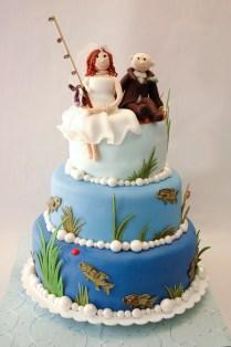 Fishing Theme Wedding Cake