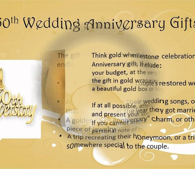 Four Meaningful 50th Wedding Anniversary Gifts To Celebrate Golden
