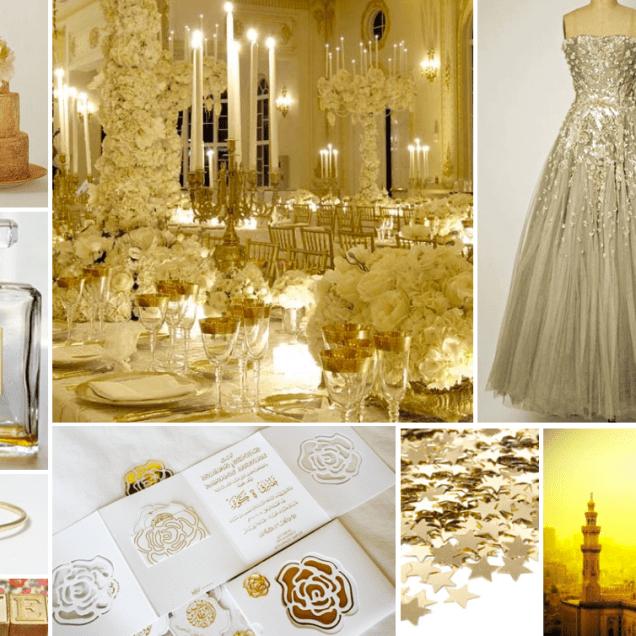 Gold Wedding Inspiration Board