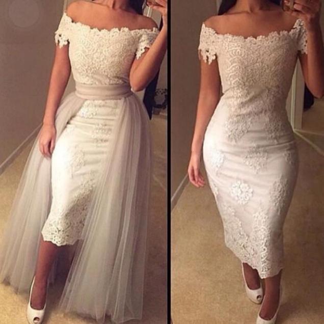 Gorgeous 2016 Lace Wedding Dress Elegant Cap Sleeves Boho Lace