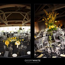 Gray And Yellow Wedding Centerpieces