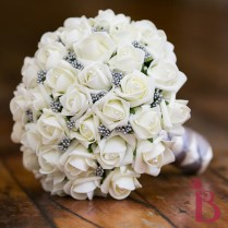 Gray Ivory Wedding Bouquet Md (more Colors)