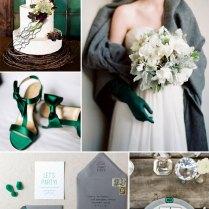 Grey & Emerald Wedding Colour Palette