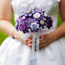 I Do Or I Don't To A Button Bridal Bouquet