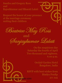 Indian Wedding Invitation Wording Samples