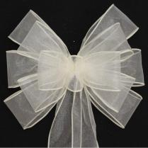 Ivory Sheer Wedding Pew Bows Church Aisle Decorations Chair Bows