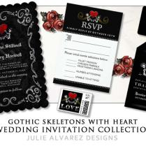 J U L I E A L V A R E Zd E S I G N S Halloween Wedding Invitations