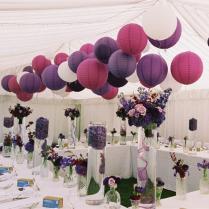 Lanterns As Centerpieces Weddingbee Paper Lanterns Wedding