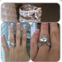 Large Aquamarine Diamond Engagement Rings