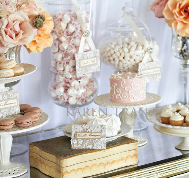 Love Is Sweet Elegant Dessert And Candy Table