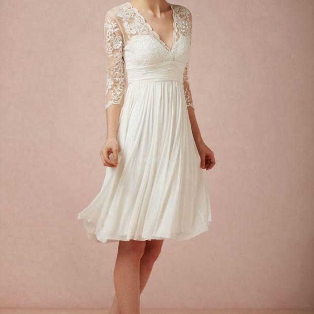 Luxurious Short Lace Wedding Dress – Elite Wedding Looks