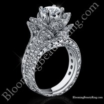 Matching Wedding Band For The Large Original Blooming Beauty Ring
