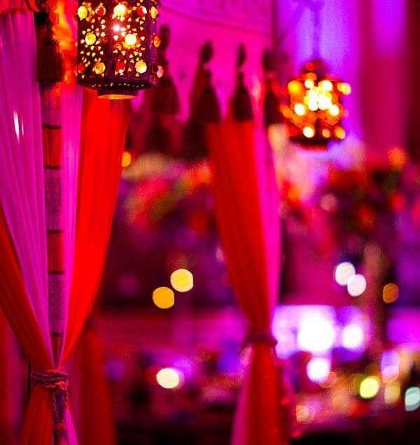 Mehndi Morrocco Lamps Wedding Decor Ideas India Indian Inpiration