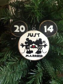 Mr And Mrs Mickey Minnie Bride Groom Disney Wedding Christmas
