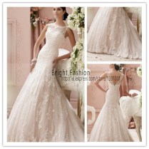 Online Shop Simple Off White Wedding Dresses 2016 New Christian
