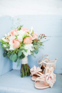Peach Wedding Flowers