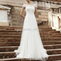 Perfect Simple Gorgeous Design!sexy White Bridal Dresses Wedding
