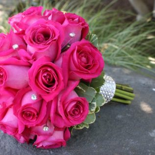 Pink Roses Wedding Bouquets And Engagement, Bridal Flower