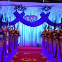 Popular Blue Wedding Backdrop Drape