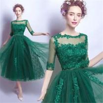 Popular Dark Green Wedding Dress