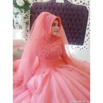 Popular Hot Pink Wedding Gowns