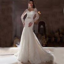Popular Long Sleeve Mermaid Wedding Dress