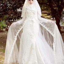 Popular White Wedding Abaya