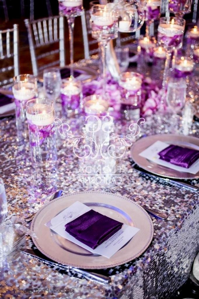 Lilac And Silver Wedding Decor