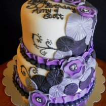 Purple Wedding Cakes Ideas