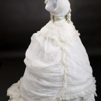 Rare 1800's Vintage Victorian Lace Wedding Dress Gown