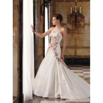 Red And White Wedding Dress Bridal Gown